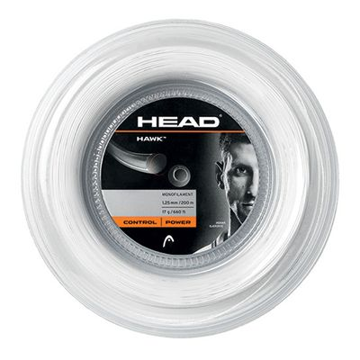 Head Hawk Tennis String - 200m Reel - white