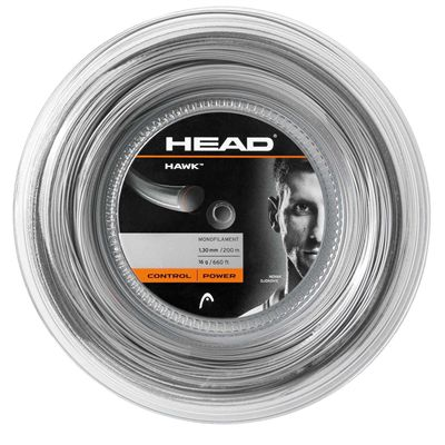 Head Hawk Tennis String - 200m Reel grey 1.30