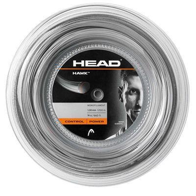 Head Hawk Tennis String - 200m Reel grey 1.30