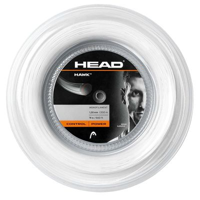 Head Hawk Tennis String - 200m Reel white 1.3