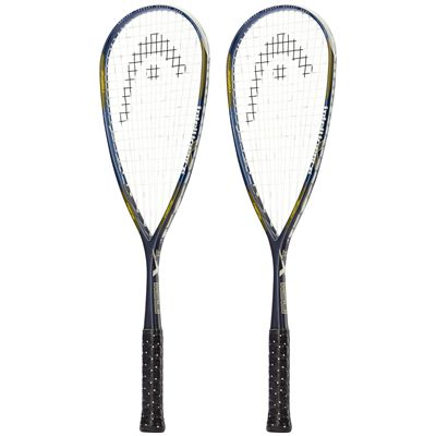 Head IX 120 Squash Racket Double Pack-Side