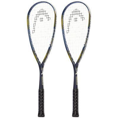 Head IX 120 Squash Racket Double Pack-Side