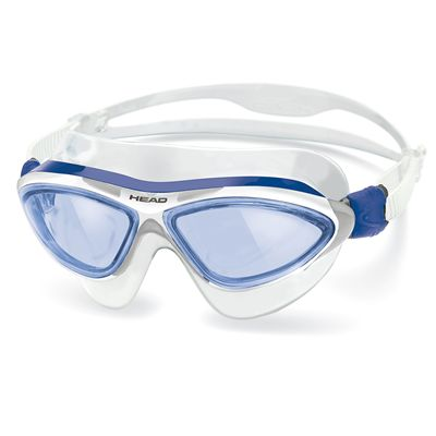 Head Jaguar LiquidSkin Swimming Mask - Blue White Frame Blue Lenses