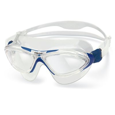 Head Jaguar LSR Swimming Goggles - Clear White-Blue Frame Clear Lenses