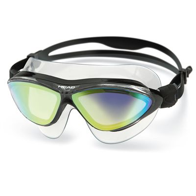 Head Jaguar Mirrored LiquidSkin Swimming Mask - Clear Black Frame Smokie Lenses