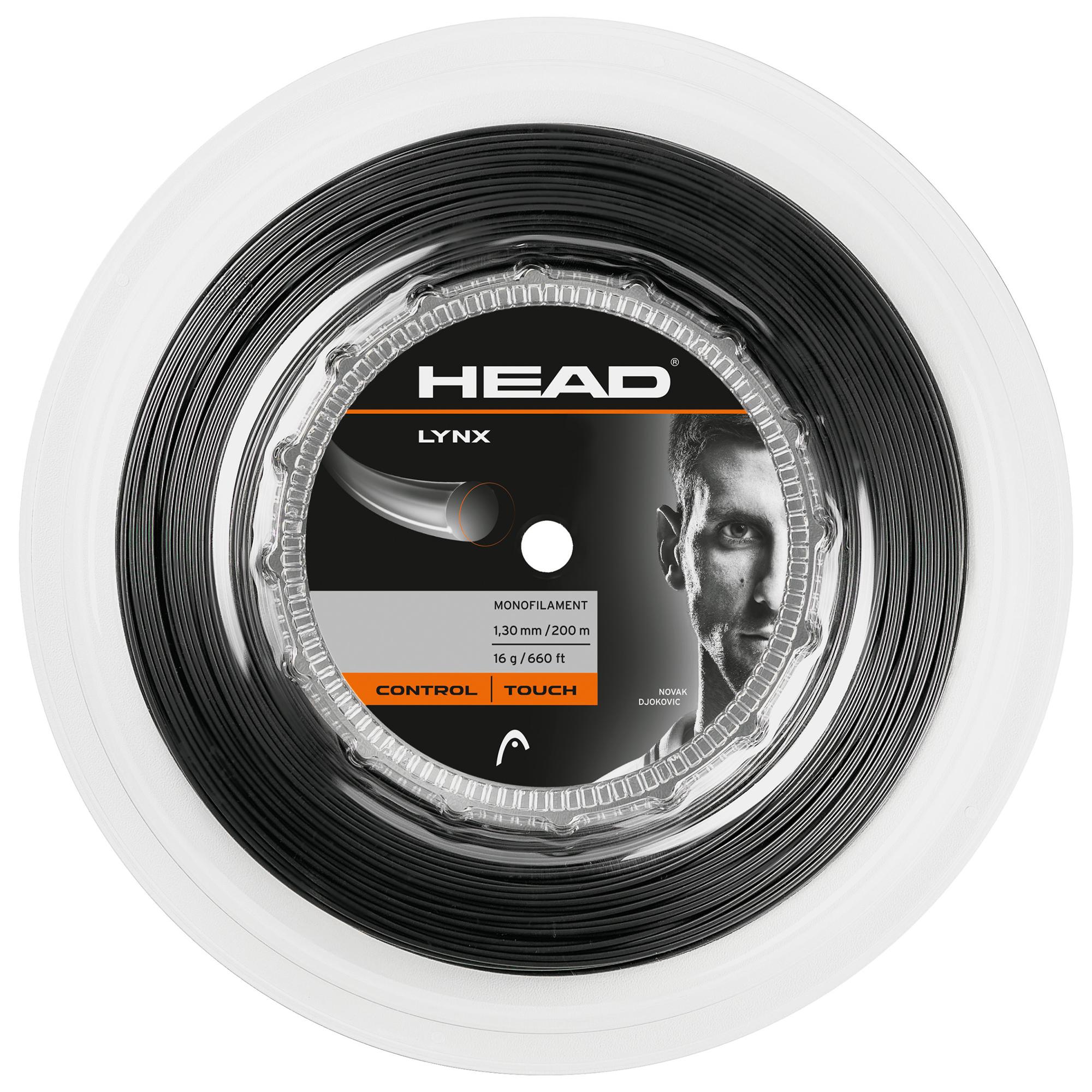 Head Lynx Tennis String 200m Reel  Black 1.30mm