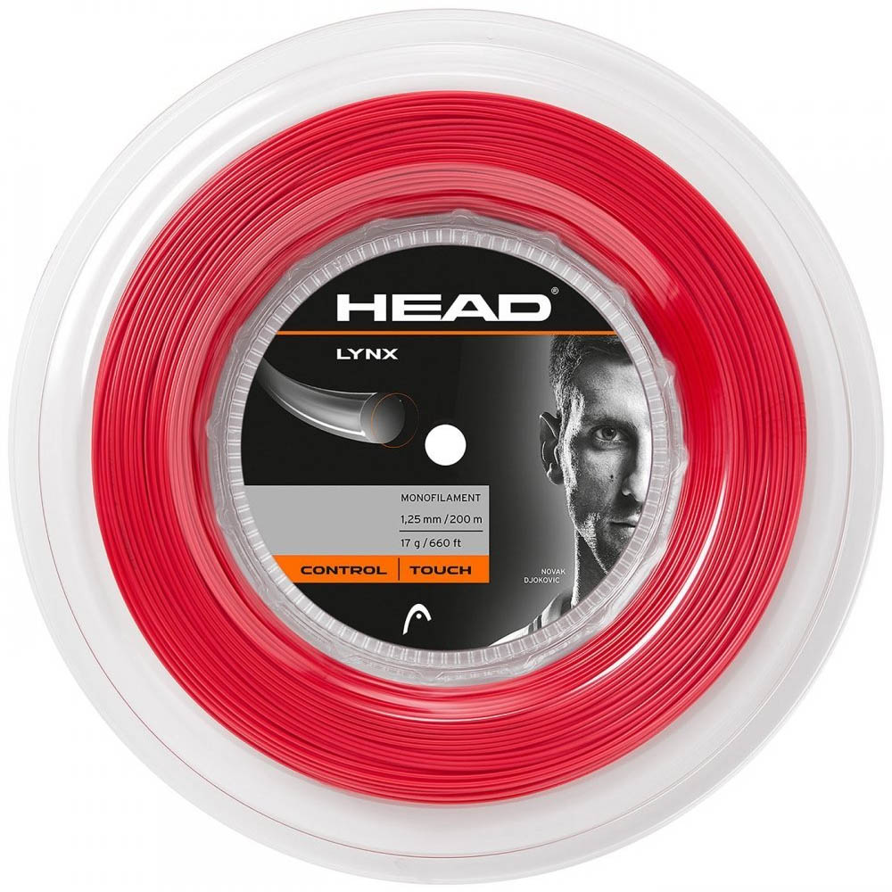 Head Lynx Tennis String 200m Reel  Red 1.25mm