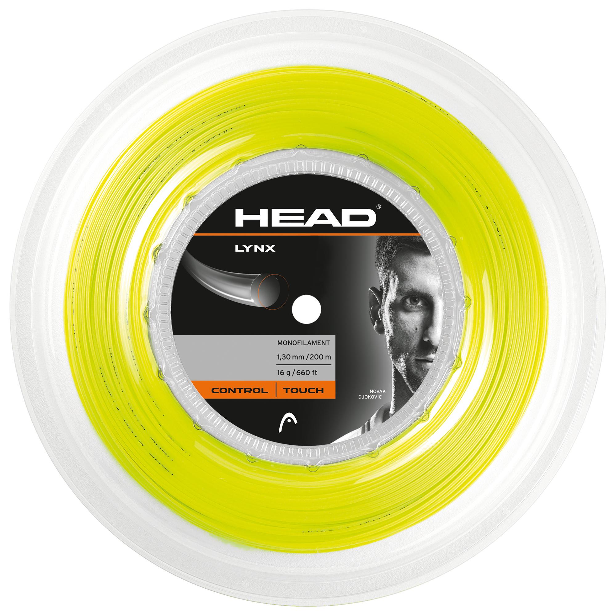 Head Lynx Tennis String 200m Reel  Yellow 1.30mm