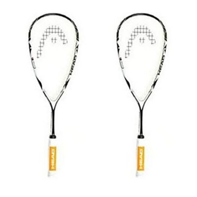 Head MicroGel 110 Super Pro Squash Racket - Double Pack