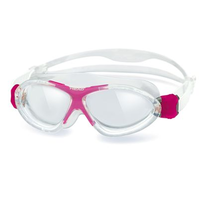 Head Monster Junior Swimming Goggles - Clear Magenta Frame Clear Lenses