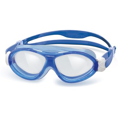 Head Monster Junior Swimming Goggles Blue White Frame Clear Lenses