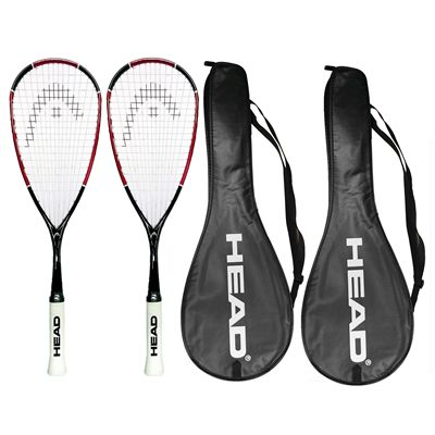 Head Nano Ti110 Squash Racket Double Pack