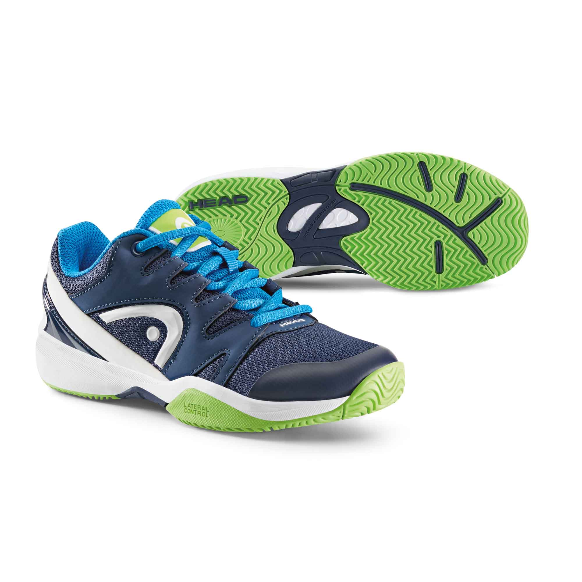 Head Nitro Junior Tennis Shoes  NavyGreen 3 UK