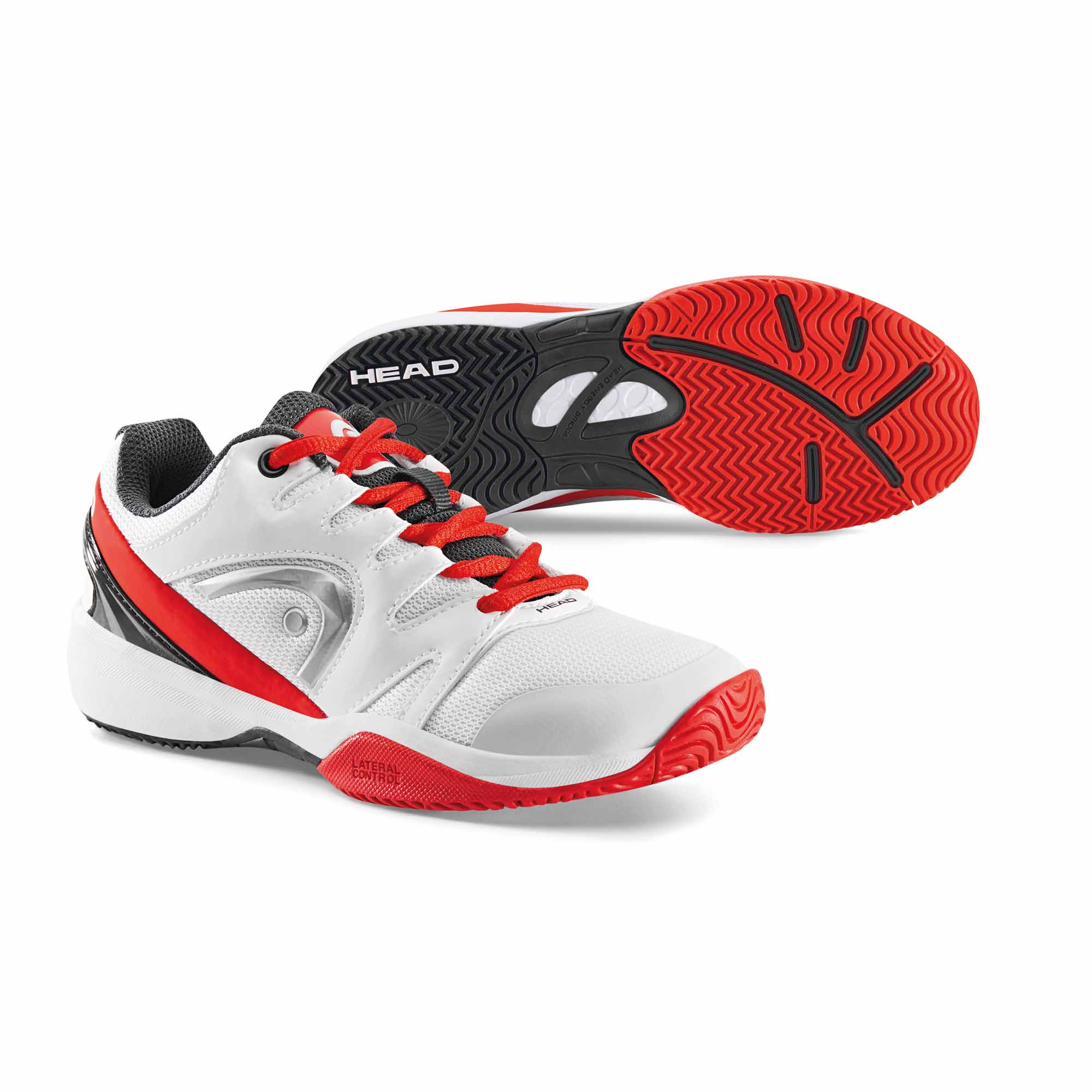 Head Nitro Junior Tennis Shoes  WhiteRed 4 UK