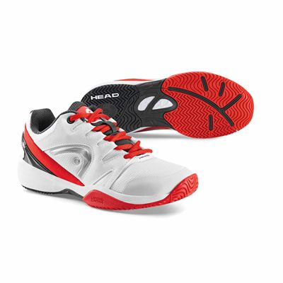 Head Nitro Junior Tennis Shoes - White-Red