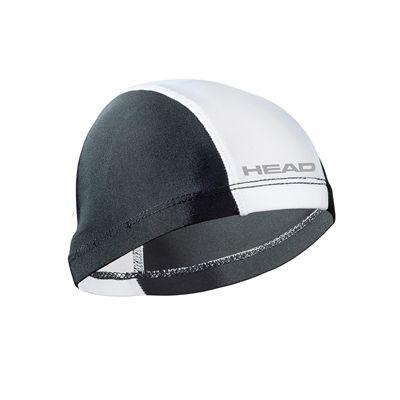 Head Nylon Spandex Junior Swimming Cap - Black White