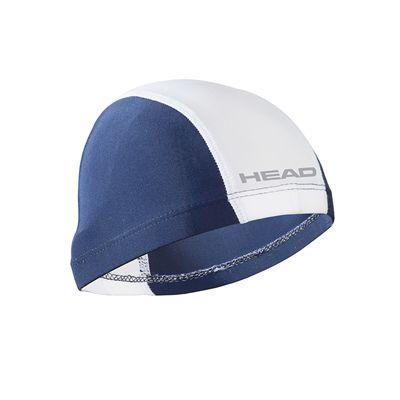 Head Nylon Spandex Junior Swimming Cap - Navy White