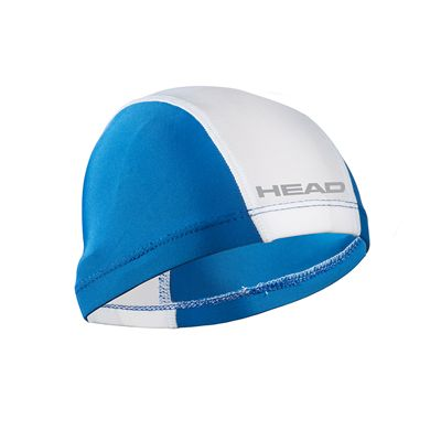 Head Nylon Spandex Junior Swimming Cap - Royal Blue White