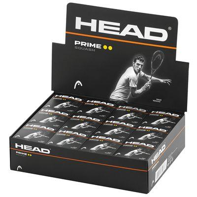 Head Prime Squash Balls - 1 Dozen