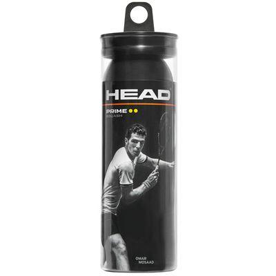 Head Prime Squash Balls - Tube of 3