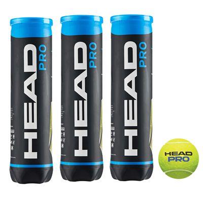 Head Pro Tennis Balls - 1 Dozen 2020