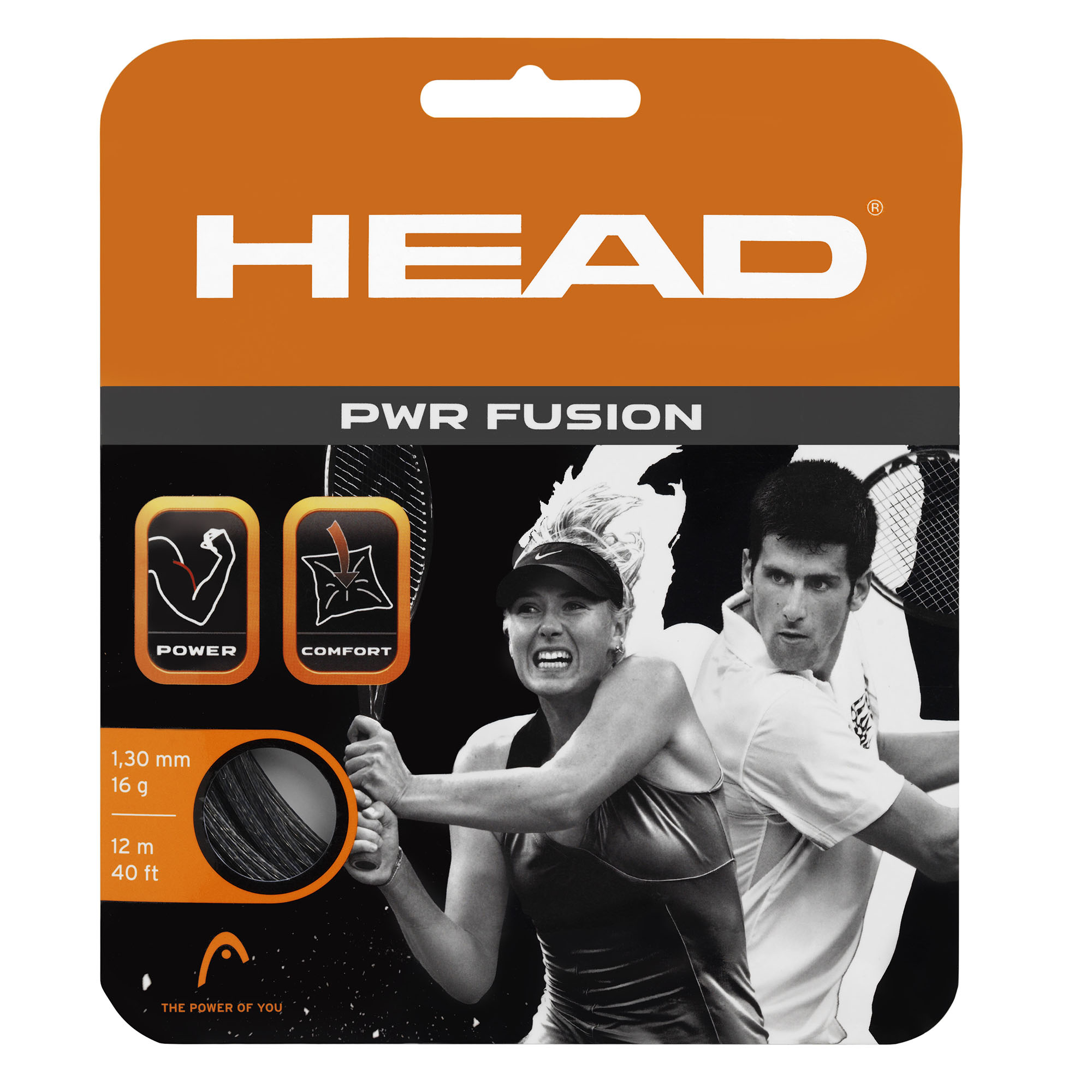 Head PWR Fusion 1.30mm Tennis String Set  Black