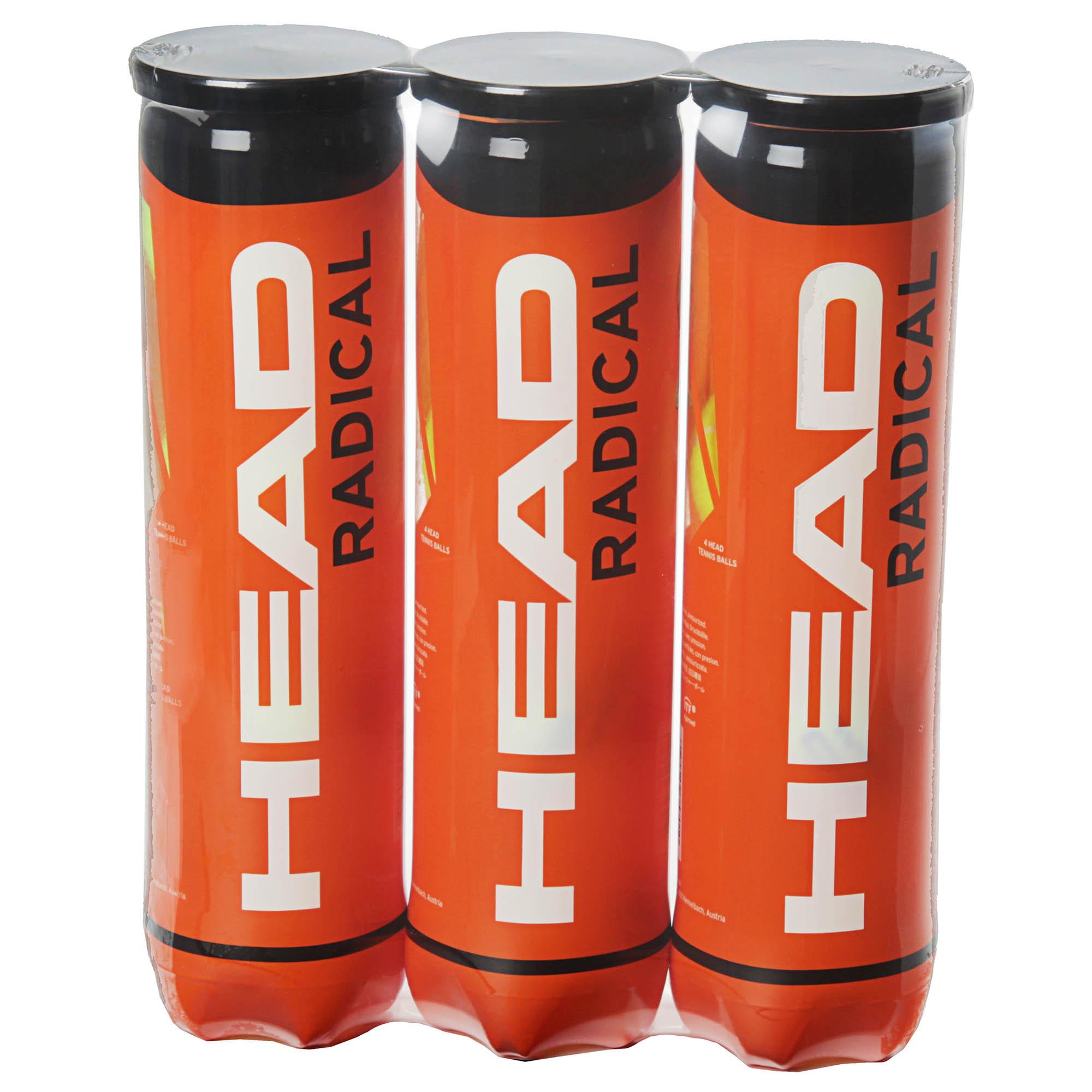 Head Radical Tennis Balls  1 Dozen