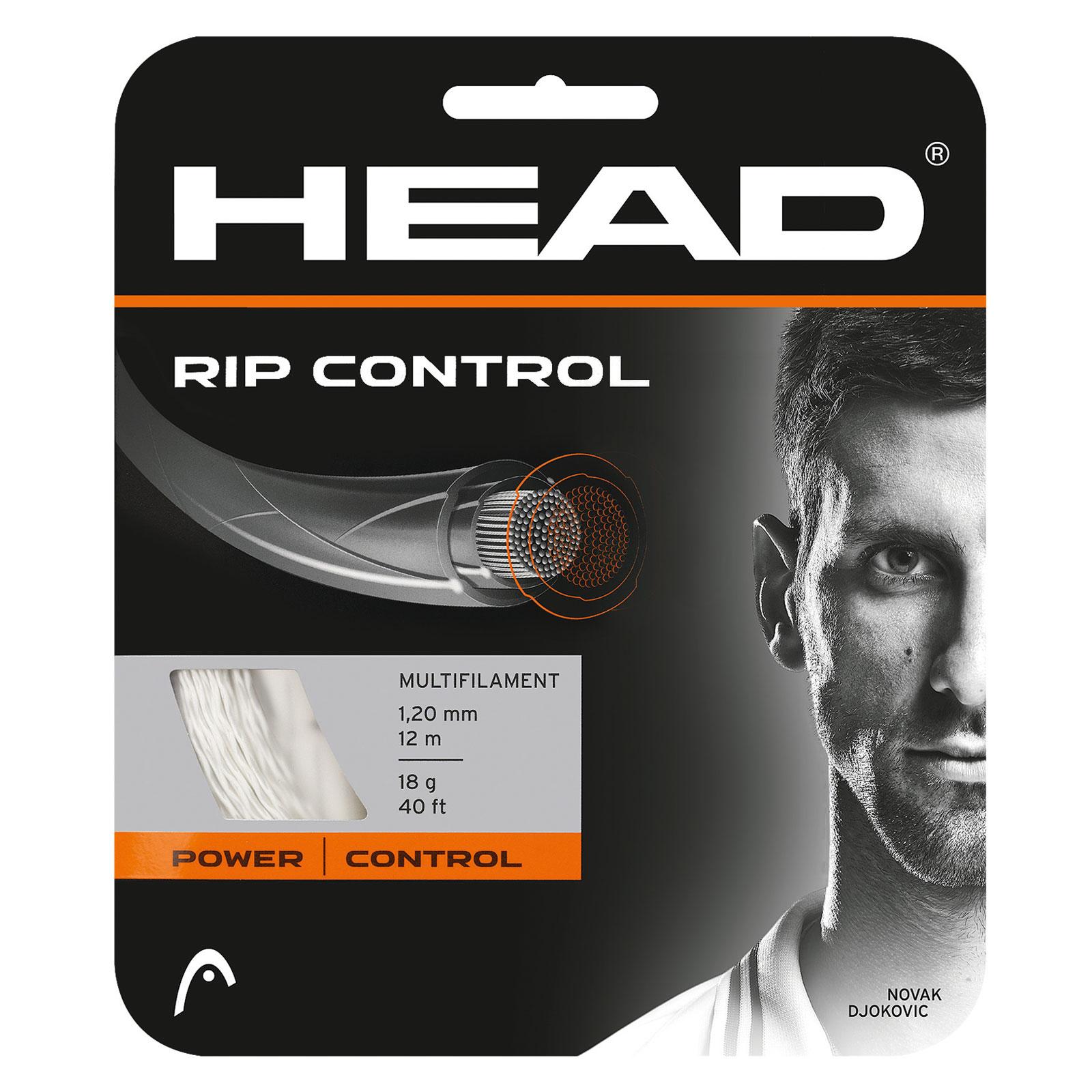Image of Head RIP Control 1.30mm Tennis String Set - White