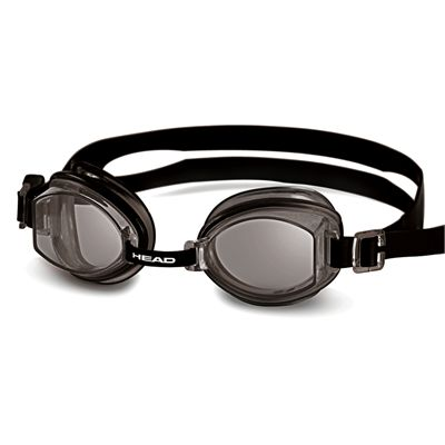 Head Rocket Silicone Swimming Goggles - Black Frame Smokie Lenses
