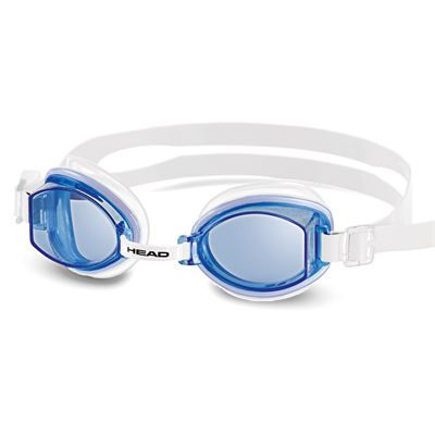 Head Rocket Silicone Swimming Goggles - Clear Frame Blue Lenses
