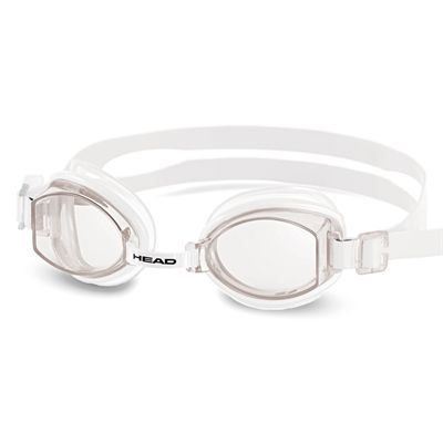Head Rocket Silicone Swimming Goggles - Clear Frame Clear Lenses