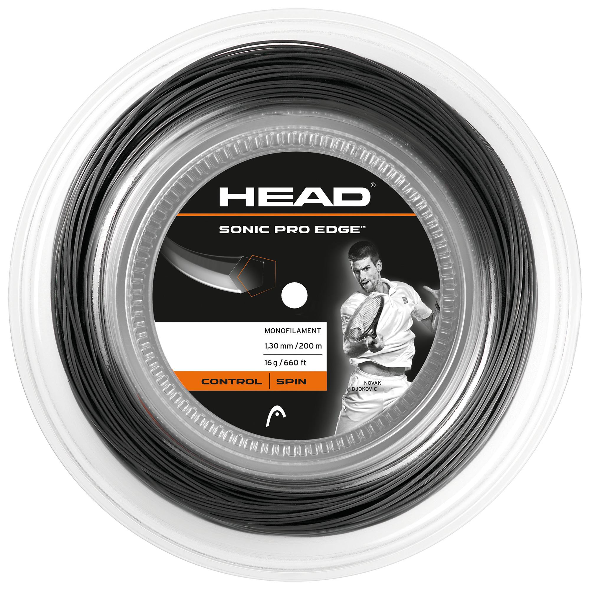 Head Sonic Pro Edge 1.30mm Tennis String  200m Reel