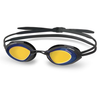 Head Stealth LSR Mirrored Swimming Goggles-Black and Blue