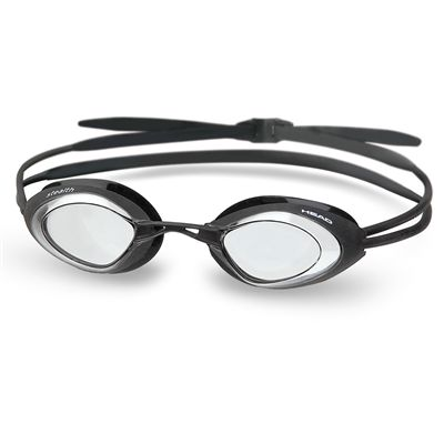 Head Stealth LSR Swimming Goggles-Black Frame Clear Lenses