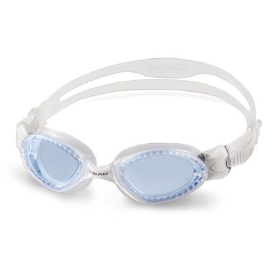 Head Superflex Mid Junior Swimming Goggles - Clear Frame Blue Lenses