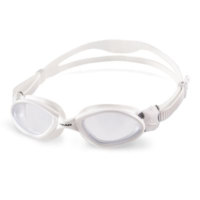 Head Superflex Mid Junior Swimming Goggles - White Frame Clear Lenses