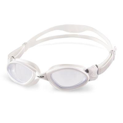 Head Superflex Mid Junior Swimming Goggles - White Frame Clear Lenses