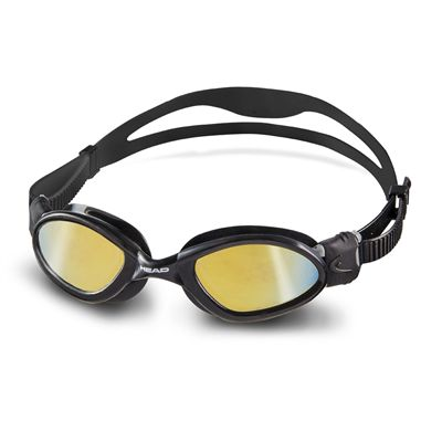 Head Superflex Mid Mirrored Swimming Goggles - Black Frame Smokie Lenses