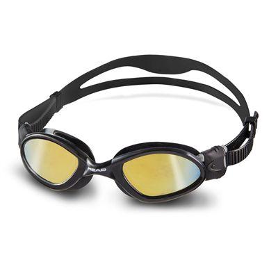 Head Superflex Mid Mirrored Swimming Goggles - Black Frame Smokie Lenses