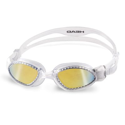 Head Superflex Mid Mirrored Swimming Goggles - Clear Frame Smokie Lenses
