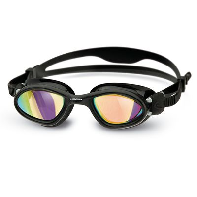 Head Superflex Mirrored Swimming Goggles - Black Frame Smokie Lenses