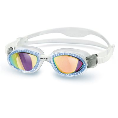 Head Superflex Mirrored Swimming Goggles - Clear Frame Smokie Lenses