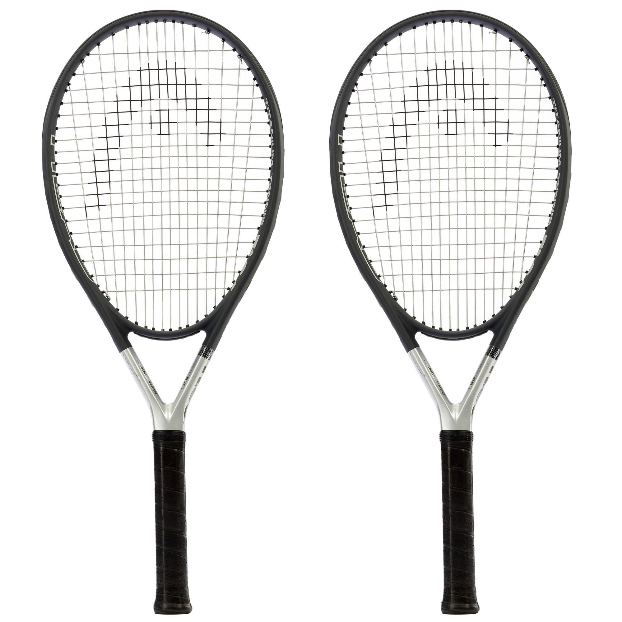 Head Ti S6 Titanium Tennis Racket Dual Pack - Grip 3