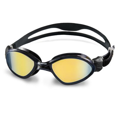 Head Tiger Mid Mirrored Swimming Goggles - Black Frame Smokie Lenses