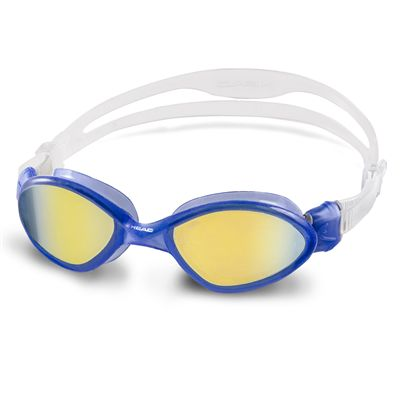 Head Tiger Mid Mirrored Swimming Goggles - Blue Frame Blue Lenses