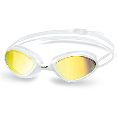 Head Tiger Mid Race Mirrored Swimming Goggles - White