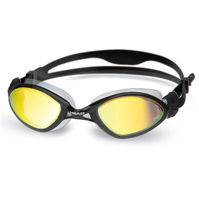 Head Tiger Mirrored LiquidSkin Swimming Goggles - Black/Smoke