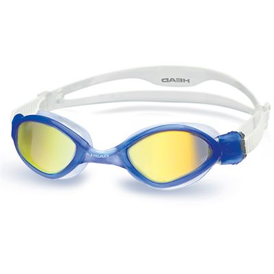 Head Tiger Mirrored LiquidSkin Swimming Goggles - Blue/Blue