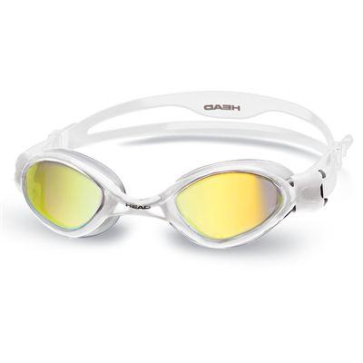 Head Tiger Mirrored LiquidSkin Swimming Goggles - White/Clear