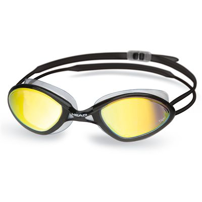 Head Tiger Race Mirrored Liquidskin Swimming Goggles - Black